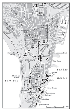 Bombay City 1920 map